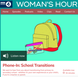 School transitions BBC phone-in